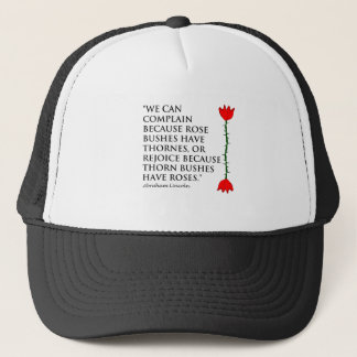 Lincoln: on Thornes and Roses (One Rose). Trucker Hat