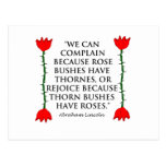 Lincoln: on Thornes and Roses (Two Roses). Post Card