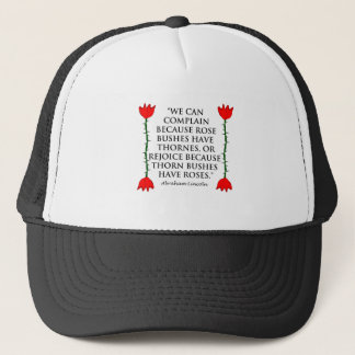 Lincoln: on Thornes and Roses (Two Roses). Trucker Hat