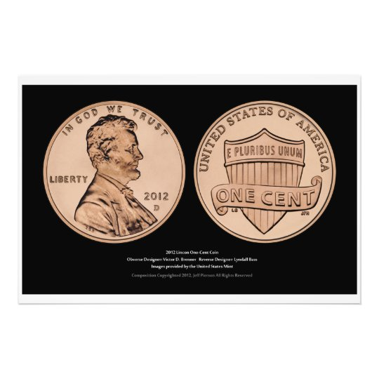 Lincoln One-Cent Uncirculated Coin Print Series IV