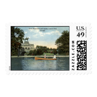 Lincoln Park, Chicago 1915 Vintage Postage