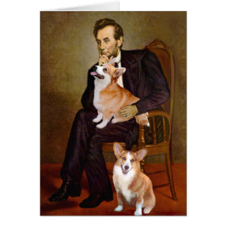 Lincoln - Pembroke Welsh Corgis (two) Card