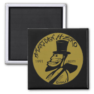 Lincoln Penny From Hell Fridge Magnets