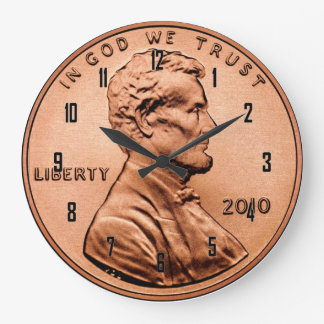 LINCOLN PENNY WALL CLOCKS