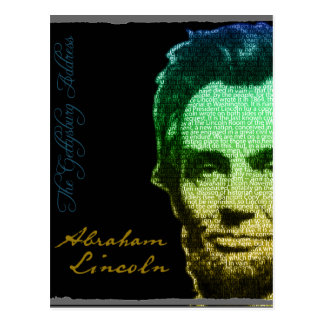 Lincoln Portrait Text Poster Postcard