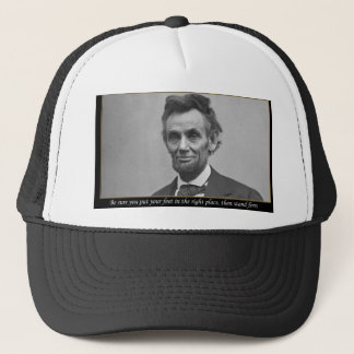 Lincoln Powerful quote Trucker Hat