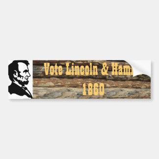 Lincoln President bumper sticker