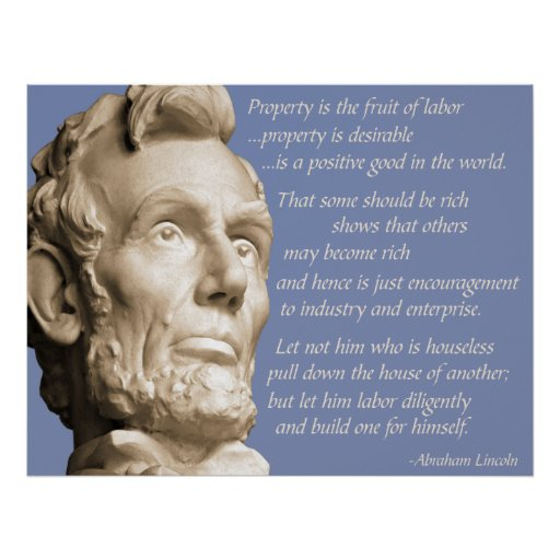 Lincoln Property Quote Poster