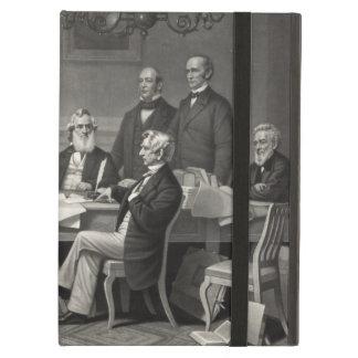 Lincoln que lee la proclamación de la emancipación