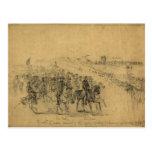 Lincoln que revisa al ejército abril de 1863 tarjeta postal