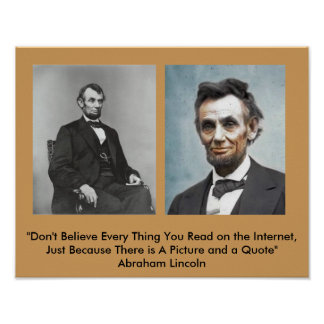 Lincoln Quote Poster? Poster