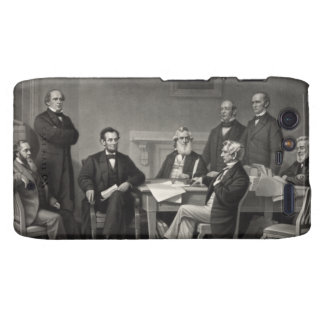 Lincoln Reading the Emancipation Proclamation Droid RAZR Cover