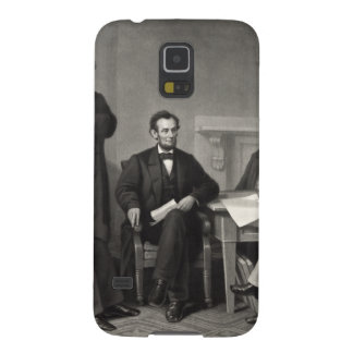 Lincoln Reading the Emancipation Proclamation Galaxy S5 Covers