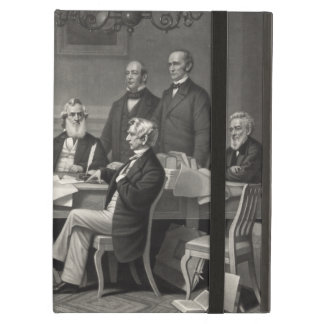 Lincoln Reading the Emancipation Proclamation iPad Case