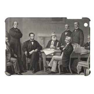 Lincoln Reading the Emancipation Proclamation Case For The iPad Mini