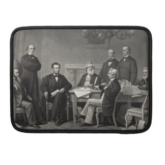 Lincoln Reading the Emancipation Proclamation MacBook Pro Sleeves