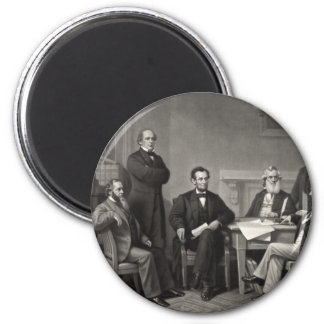 Lincoln Reading the Emancipation Proclamation Magnets