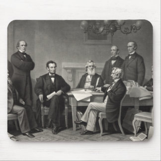 Lincoln Reading the Emancipation Proclamation Mouse Pad