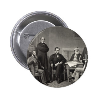 Lincoln Reading the Emancipation Proclamation Pinback Button