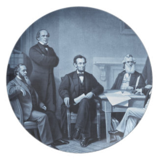 Lincoln Reading the Emancipation Proclamation Plates