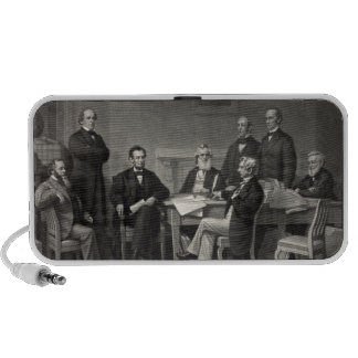 Lincoln Reading the Emancipation Proclamation iPhone Speakers