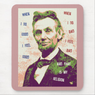 Lincoln Religion Mouse Pad