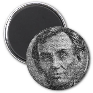 Lincoln Rendered with Gettysburg Address 2 Inch Round Magnet