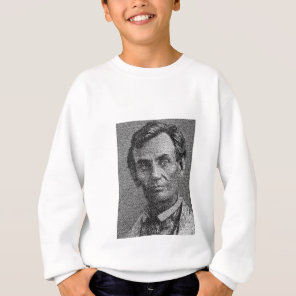 Lincoln Rendered with Gettysburg Address Sweatshirt