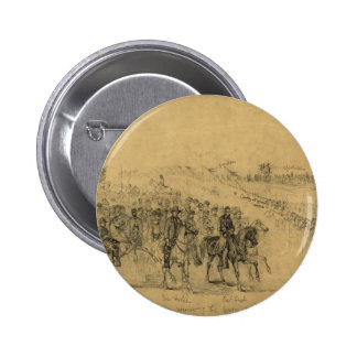 Lincoln Reviewing the Army–April 1863 2 Inch Round Button