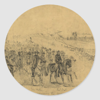 Lincoln Reviewing the Army–April 1863 Classic Round Sticker