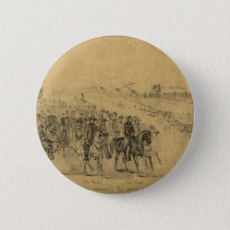 Lincoln Reviewing the Army–April 1863 Pinback Button