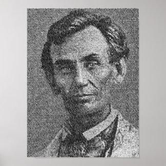 Lincoln rindió con la dirección de Gettysburg - Póster
