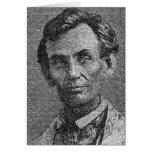 Lincoln rindió con la dirección de Gettysburg Tarjetón