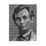 Lincoln rindió con la dirección de Gettysburg Postales