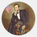 Lincoln - Rottweiler Etiquetas Redondas