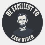 Lincoln - sea excelente pegatinas