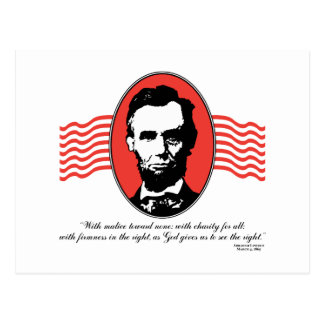 Lincoln Second Inaugural Address Quote Postcard