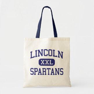 Lincoln - Spartans - Junior - Skokie Illinois Budget Tote Bag