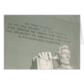lincoln statue cards