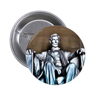 Lincoln Statue Pinback Button