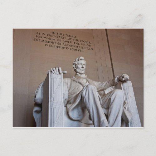 Lincoln Statue Postcard postcard