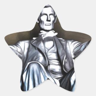 Lincoln Statue Star Sticker