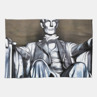 Lincoln Statue Towels