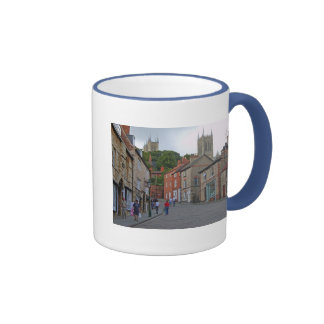 Lincoln Steep Hill & Cathedral Ringer Coffee Mug
