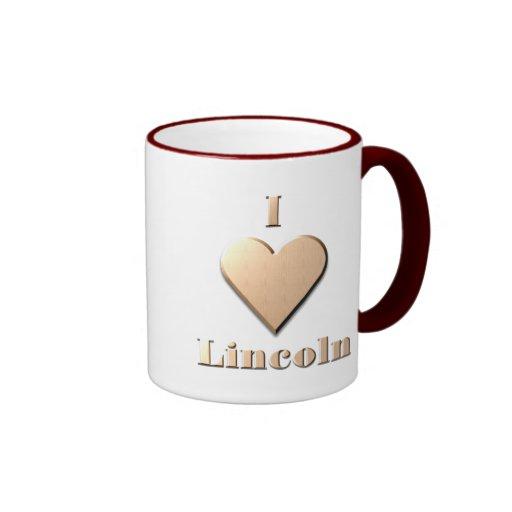 Lincoln -- Tan Coffee Mug