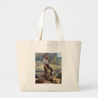 Lincoln the Rail Splitter by Jean L. Gerome Ferris Large Tote Bag