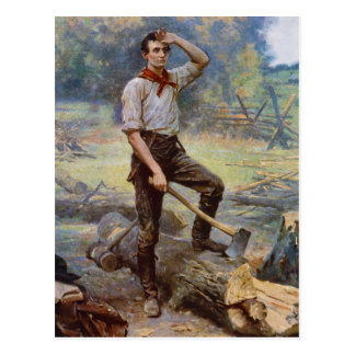 Lincoln the Rail Splitter by Jean L. Gerome Ferris Post Cards