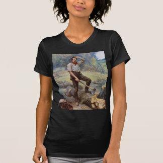 Lincoln the Rail Splitter by Jean L. Gerome Ferris T-Shirt