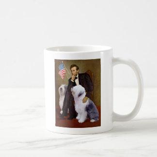 Lincoln - Two Old English Sheepdogs Classic White Coffee Mug