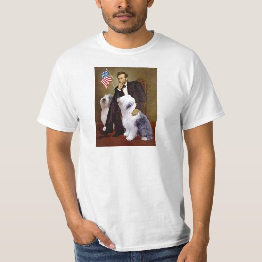 Lincoln - Two Old English Sheepdogs T-Shirt